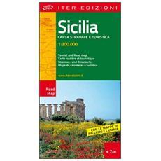 Sicilia. Carta stradale e turistica 1:300.000