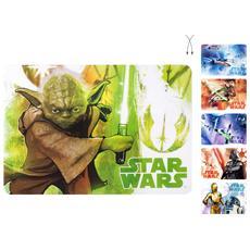 Confezione 6 Tovagliette Polipropilene Star Wars Pappa Bimbi