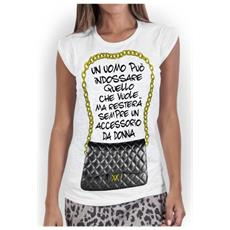T-shirt Donna Uomo Accessorio L Bianco