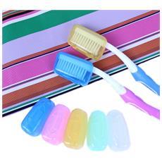 Set 6 Pezzi Copri Spazzolino Coprispazzolino Cappuccio Cappucci Da Denti Igiene Orale Vari Colori