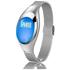 Smart Band Fitness Orologio Donna Z18 Bluetooth Cardio Contapassi Calorie Silver