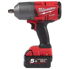 Fuel M18 Avvitatore Ad Impulsi M18 Fhiwf12-502x - 2 Batterie 18v 5.0ah - 1 Caricabatterie M12-18fc 4933459696