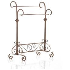 Portasalviette Stile Romantico Cp261 Ferro 80x58x30cm ~ Colore Marrone Antico