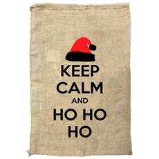 Sacco Porta Regali Keep Calm And Ho Ho Ho (74 X 51cm) (marrone Chiaro)