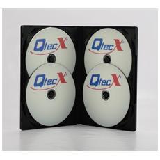 50 Custodie cd / dvd nera quadrupla con tasca locandina