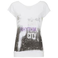 T-shirt Donna Stampa City Bianco M