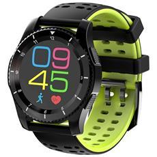 Smartwatch Gs8 Sim Card Cardiofrequenzimetro Pedometro Calorie Green Android