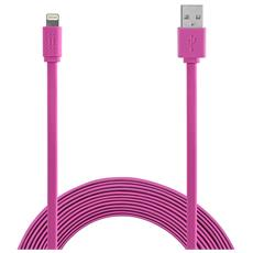 Apple Lightning cable 1,2m MFI Flat - Pink