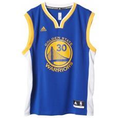 Canotta Uomo Golden State Warriors Blu Giallo L