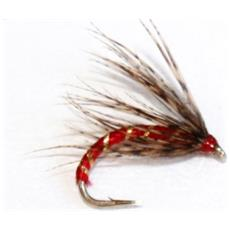 Mosca Gigi's Flies Red 12 Rosso Viola