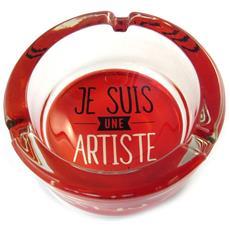 citazioni portacenere di vetro rosse (io sono un artista o no!) - [ n5147]