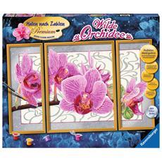 Wilde Orchidee, Pittura acrilica, Set di immagini da colorare