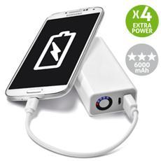 Power Bank Pocket Charger Ultra Batteria Esterna 6000 mAh - Bianco