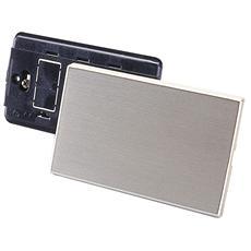 Placca Alluminio Serie Magic, Rettangolare, Cieca Oro