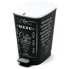 Pattumiera Chic A Pedale 18x27xh. 30 Cm Caffé