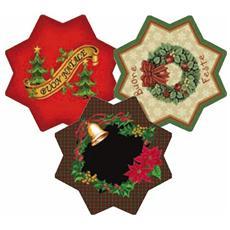 Natale Tappeto Natalizio Christmas a forma di Stella D. 100 cm
