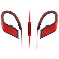 Auricolare Sport Wireless RP-BTS30 Bluetooth colore Rosso
