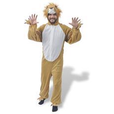 Costume Di Carnevale Da Leone Giallo M-l