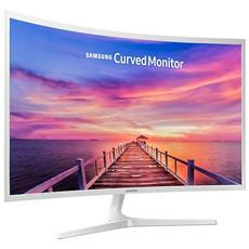 """Monitor 31.5"""" LED VA Curvo LC32F395FWUXEN 1920 x 1080 Full HD Tempo di Risposta 4 ms, Curvatura 1800R, Bianco"""