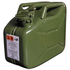 Tanica in metallo 10 Lt certificata per carburante infiammabile