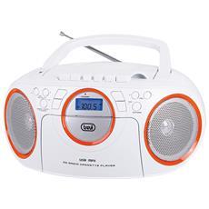 Radio Registratore Cd Cassetta Cmp 572 Bianco