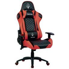 Sedia Gaming Triton X3 Colore Nero / Rosso P050-X3-BR