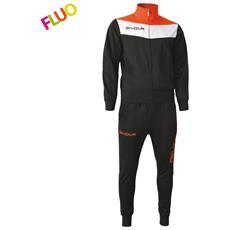 Tuta Campo Givova Completo Di Giacca A Manica Lunga E Pantalone Di Colore Nero / arancio Fluo Taglia Xl