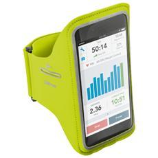 Fascia da braccio per iPhone 6 e 6S con tasche per chiavi e carte di credito - Lime
