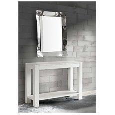 Tavolo Di Design Allungabile Abete Bianco Spazzolato 140-220x90