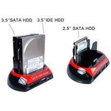 Docking Station Hard Disk 3,5 2,5 Sata Ide 2 Hd Hdd Box Case Tf Ms Card Usb Sd