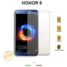 Pellicola Vetro Temperato Trasparente Huawei Honor 8 Con Display Da 5.2 Pollici Salva Schermo Incluso Kit Applicazione