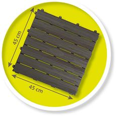 Set 6 Piastrelle Da Pavimento 45x45 Cm / Riferimento 810907