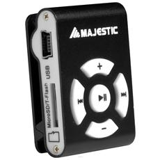 Lettore MP3 +MicroSD 8GB USB 2.0 colore Nero