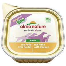 Almo Daily Menu Cane, Con Pollo Bio 100gr