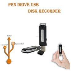 Registratore Vocale Pen Drive Mini 8gb Portatile Audio Voice Usb Disk Recorder Spia Dittafono
