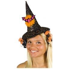 Halloween Cerchietto Con Cappellino E Capelli