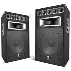 Coppia Di Altoparlanti Boomtone Sound Dj Bm15 - 3 Canali / 2x500 Watt Max - Boomer 38 Centimetri