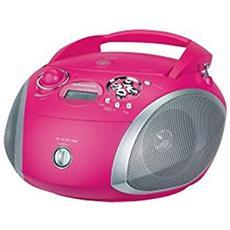 GRB 2000USB Digitale 15W Rosa, Argento radio CD