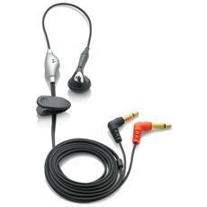 Cuffia con Microfono per Registratori Vocali Nero e Argento Filo 20 Hz - 20.9 kHz 10 mW 107dB LFH0331
