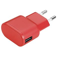 Wall Charger 1USB 1A - Red