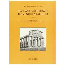 Tavola di bronzo rinvenuta a Paestum (La)