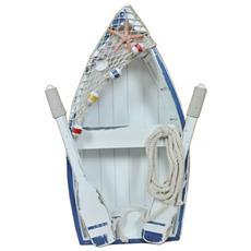 Decorazione Mare Barca C / Remi E Rete Cm34x10H53