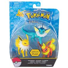 Figure Pokemon Flareon+Jolteon+Vaporen