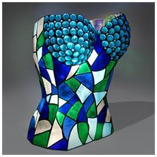 Lampada Da Tavolo? corpetto In Vetro Stile Tiffany