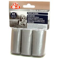 8 In 1 Poop Patrol Sacchetti Igienici Per Cani (confezione Da 3 Rotoli) (taglia Unica) (assortiti)