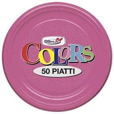 Piatti In Plastica Col. Fucsia 17cm Dopla 50pz