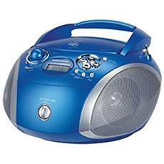 GRB 2000 USB Digitale 3W Blu, Argento radio CD