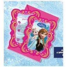 Frozen - 6 Inviti Con Busta