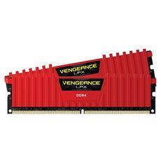 Memoria Dimm Vengeance LPX 16 GB (8GB x 2) DDR4 2400 MHz CL14 Dissipatore Rosso