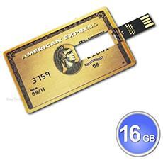 Pen Drive Modello Credit Card Carta Di Credito America Express Chiavetta Penna Usb 2.0 (16gb)